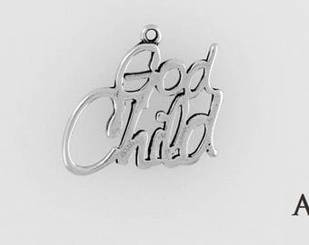 Sterling Silver God Child Charm, Choice of Adapter or Necklace