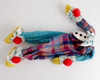 Vintage Sad Clown Body, Frightening Halloween Prop