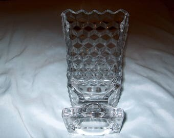 Vintage Fostoria American Glass Vase
