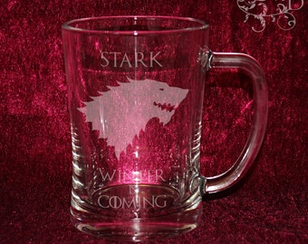 Game of Thrones - House Sigils - Personalized etched beer stein