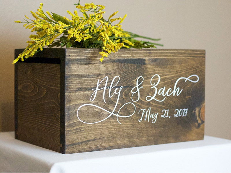 Wedding Card Box money box rustic wedding rustic card box – Wedding Box for Cards