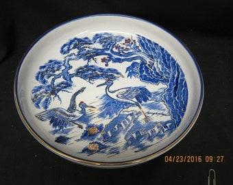 Made in Japan Blue Heron Dish/Bowl