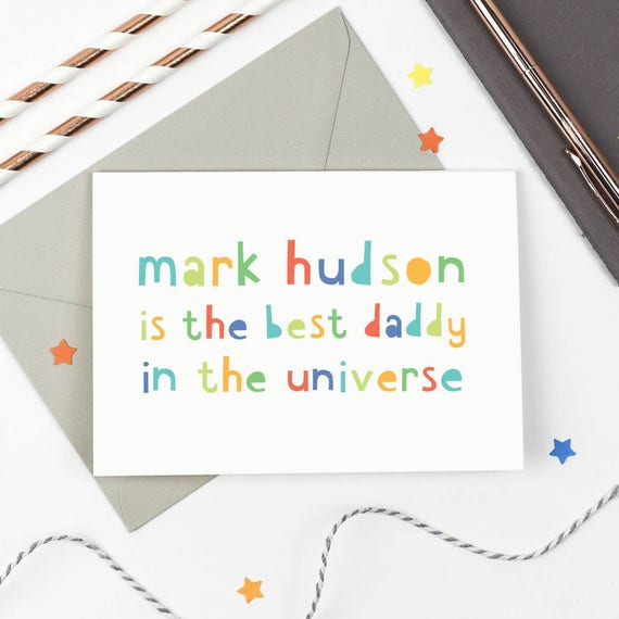 Personalised Best Daddy' Father's Day Card step dad