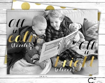Calm & Bright Holiday Photo Card