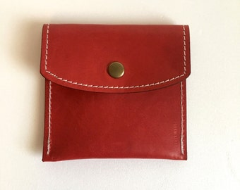 Red Italian Leather ROSARY POUCH