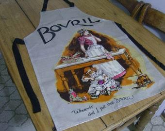 Vintage Sari Fabrics Bovril PVC Adult Apron