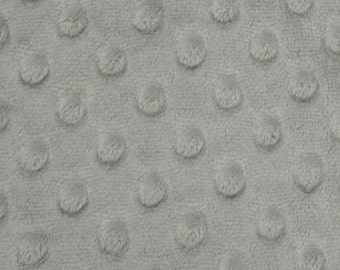 Silver Minky Dot Fabric by Shannon Fabric Cuddle Dot by the Yard - Fat Quarter - Fat Half - Extra Wide
