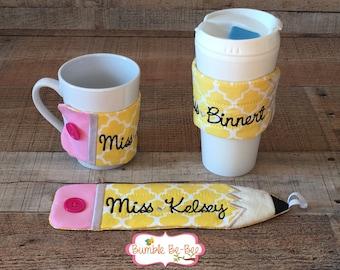 Teacher appreciation coffee mug coffee sleeve mug wrap coffee wrap personalized teacher gift coffee mug included