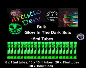 Uv Glow Face Paint Party Pack Glow In The Dark Face Paint Bulk Tubes Packs