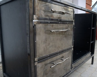 Steampunk Furniture // Industrial Furniture //Industrial Kitchen //Custom  Furniture //
