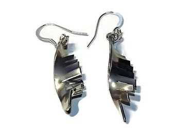 jagged handmade pewter earrings