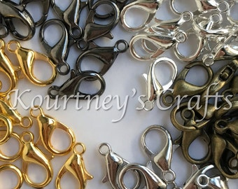 7mm x 12mm 120 Lobster Clasps Assorted Finishes