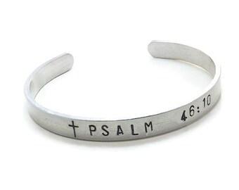 Bible Verse Cuff Bracelet, Custom Bible Verse Bracelet, Choose Your Bible Verse, Christian Cuff Bracelet