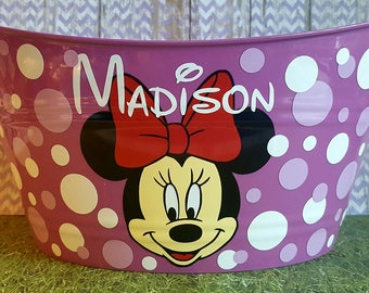 Personalized Oval Easter Tub, Toy Storage Basket with Minnie Mouse