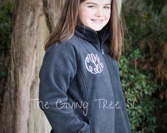 Kids Fleece Jacket, Monogrammed Jacket, Youth Fleece Jacket, Youth Monogram Jacket, Monogrammed Fleece, Youth Jacket, Fleece Jacket, Jacket