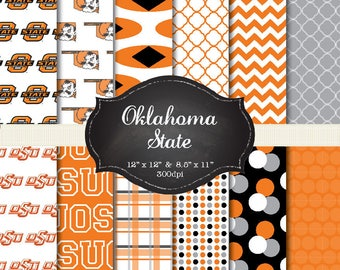 OK State digital papers - 12x12 and 8.5x11 300 dpi