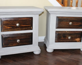 SOLD******Refinished Broyhill Side Tables