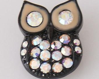 KB5160  Owl w/Rainbow Crystals