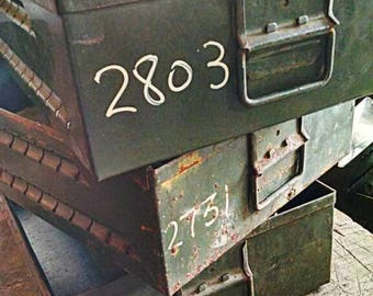 Military Tool Box Metal storage drawer