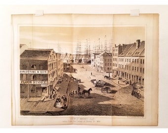 Antique Hand Tinted Lithograph 1860