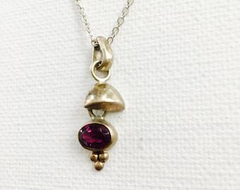 Vintage Silver Purple Amethyst Necklace