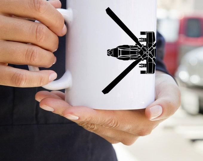 KillerBeeMoto: U.S. Made Coffee Mug Boeing AH-64 Apache Attack Helicopter Coffee Mug