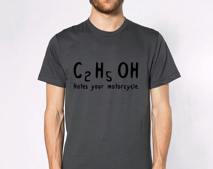 KillerBeeMoto: Ethanol Hates Your Motorcycle Short Or Long Sleeve T-Shirt