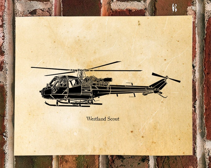 KillerBeeMoto: Limited Print of A Westland Scout British Army Helicopter