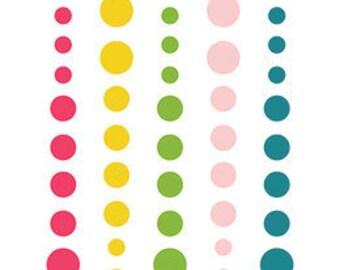 Echo Park - Summer Fun Collection - Enamel Dots