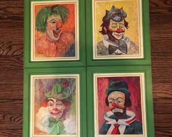 Vintage Clown Prints by Michele - Vintage Clown Art - Clown Oil Paintings