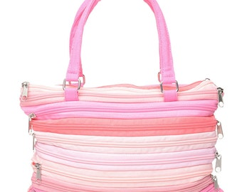 Pink Multi Zipper Bag