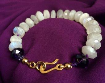 Selene Radiant Glow Moonstone Bracelet