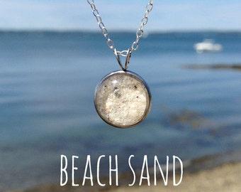 Sand Jewelry - Beach Sand Necklace - Sand Pendant - Beach Necklace - Custom Sand Necklace - Sand Charm - Charm Necklace - Sand Pendant