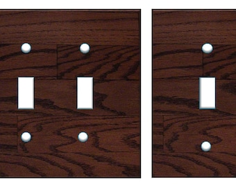 Dark wood light switch plate cover // dark walnut brown image 56 // SAME DAY SHIPPING**