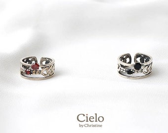 bold sterling silver rings etsy