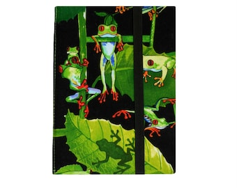 Kindle Fire HD 6 Case, Kindle Case, Kindle Fire HD 6 Cover, Kindle Fire Cover, Kindle Cover Hardcover, Tropical Frogs