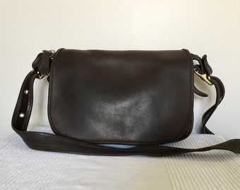 Vintage COACH Brown Leather Classic Patricia's Legacy Shoulder Crossbody Bag Purse