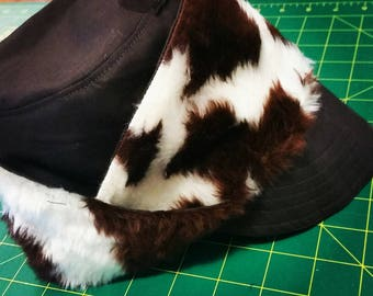 Fluffy Moo Cow Hat