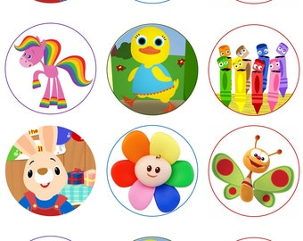 Baby TV Ebible Image Cupcake Toppers