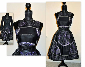 New Listing 50's style Bintu Dress in black and mauve hues.