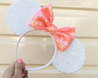 Twinkle White Sequin Mouse Ears