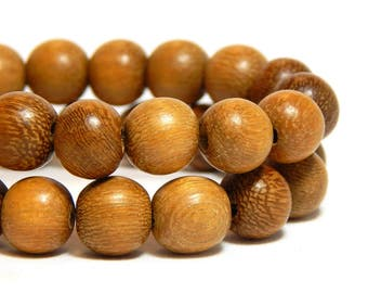 10mm Robles Wood Beads, 10mm Round Wood Beads, Brown Beads, Large Wood Beads, Wood Beads, Wooden Beads, High Quality Wood Beads D-N03