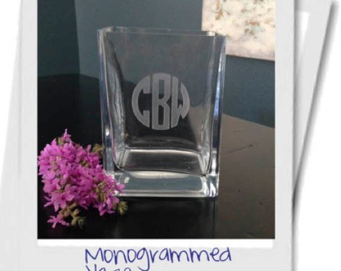 Personalized Vase - Realtor Closing Gift, Personalized Engagement Gift, Personalized Wedding Gift