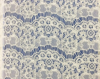 eyelash corded Lace fabric Ecru white,peony LACE fabric, beautiful off white  curtain fabric,white fabric,cotton Lace