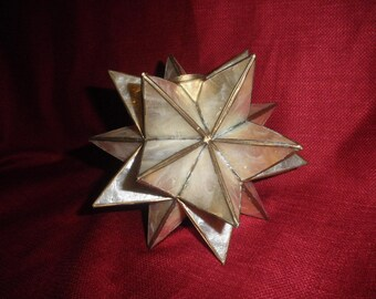 Candle Holder in Capiz Shell Moraccan Style Decor
