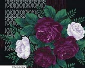 Outback Wife by Gertrude Made for Ella Blue -- 1/2 metre Kirstine in Rose Black