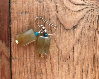 Soocho Jade and Swarovski earrings