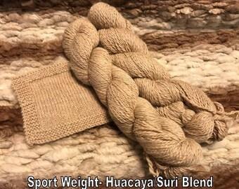 Alpaca Yarn- Sport- Natural Colors