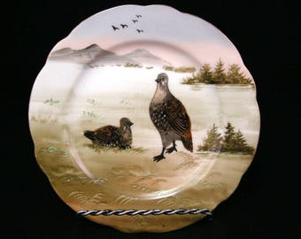 Boseck & Co. Hand Decorated Plate: c.1910 (Carl Friedrich Boseck,Bohemia Austria)