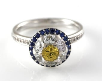 Daisy Daisy -14k Engagement ring